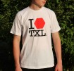 I LOVE TXL T-Shirt, white